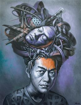 Mr. Sajja Sajjakul - Hallucination Oil on Canvas, Paintings