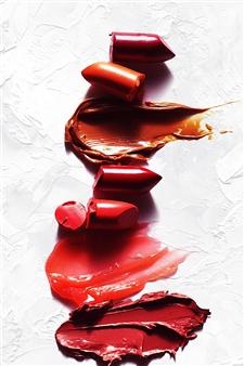Shajeel Rehman - Red Lips Art _08 Oil on Canvas, Paintings