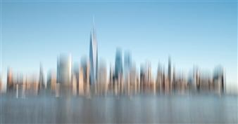 Gottfried Roemer - New York West Side Manhattan Photograph on Aluminum, Photography