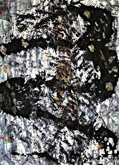 Vanessa Elaine - La Mujer Acrylic & Ink on Canvas, Paintings