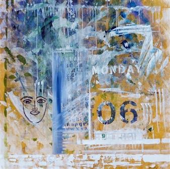 Maria Fernandez Gold - Love Letters 06 Acrylic & Mixed Media on Canvas, Mixed Media