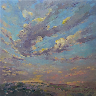 Becky Sungja Kim - Evening Dance Oil on Linen, Paintings