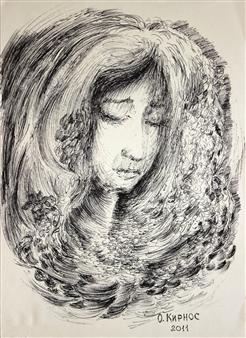Oleg Kirnos - Sadness Pen on Paper, Drawings