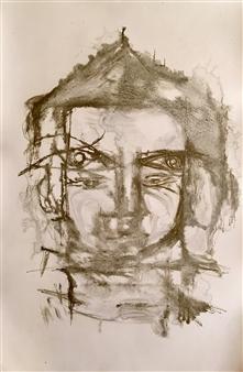 Lorena Becerra - Diluted Budha 1 Monotype, Paintings
