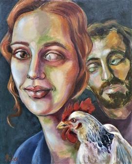 Clara de Bobes - The Family Acrylic on Canvas, Paintings