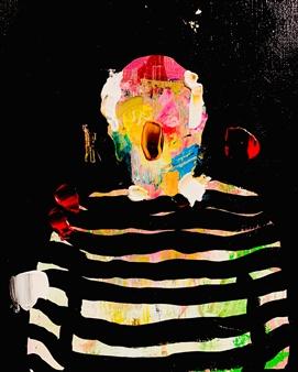 Kazusa Matsuyama - -Anonymous Portrait 13- Acrylic on Canvas, Paintings