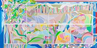 Ai-Wen Wu Kratz - Summer Reveries Acrylic on Canvas, Paintings