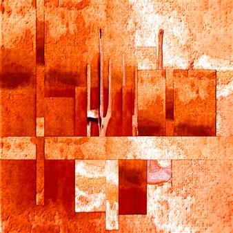 Vanitira - Collage3 Digital Artwork on Canvas, Digital Art