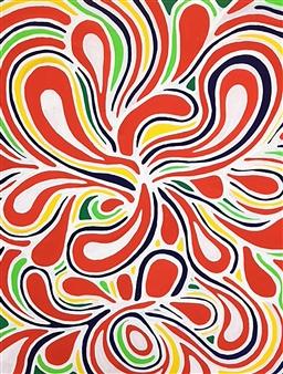 Hiroko Saigusa - Flower Acrylic on Canvas, Paintings