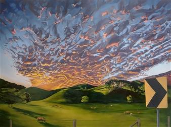 Sandra Guy - Clothier's Creek Bend Oil on Linen, Paintings
