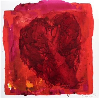 Mehdi Oveisi - Heart VII Mixed Media on Canvas, Mixed Media