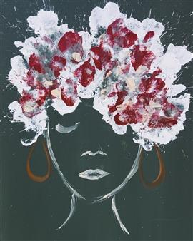 Josefina De León - Mirar para Adentro para Expandirnos Acrylic on Canvas, Paintings