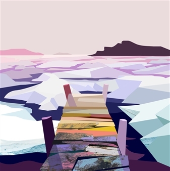 Phil Leith-Tetrault - Sea Ice on White Bay Digital Print on Paper, Prints