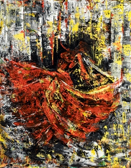 Martina Della Rocca - Flamenca Acrylic on Canvas, Paintings