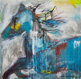Grażyna Aneta Ochowiak - Gallop Acrylic & Mixed Media on Canvas, Mixed Media