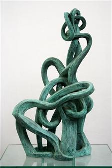 Attila Mata - Love (big) Bronze, Sculpture