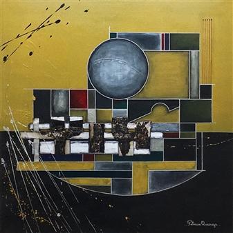 Patricia Queiruga - Ensamble II Acrylic & Mixed Media on Canvas, Mixed Media