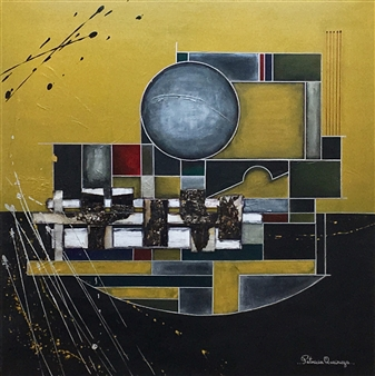 Patricia Queiruga - Ensamble II Acrylic & Mixed Media on Canvas, Mixed Media