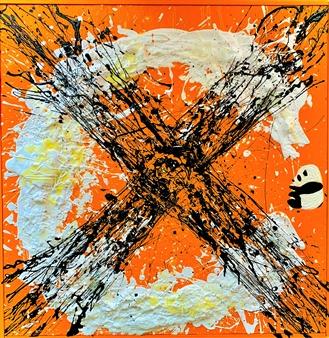 Miho Nishibe - Lucky Panda Acrylic & Oil on Canvas, Paintings