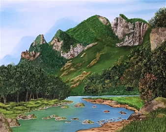 Johan van der Spuy - Rocky Mountain Oil on Canvas, Paintings