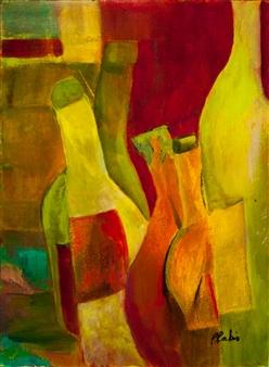 Pauline Rakis - Tipsy Acrylic on Canvas, Paintings