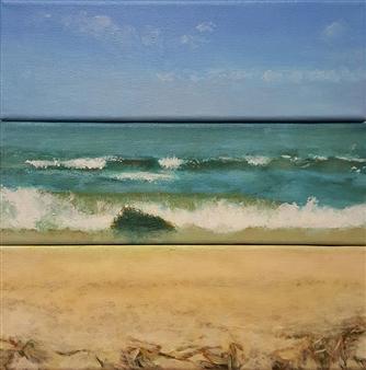 Jonathan Mann - Beach, Ocean, Sky, Chincoteague, 2007 Acrylic on Canvas, Paintings