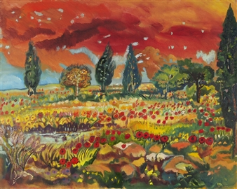 Mira Seeman - Nature Oil on Canvas, Paintings