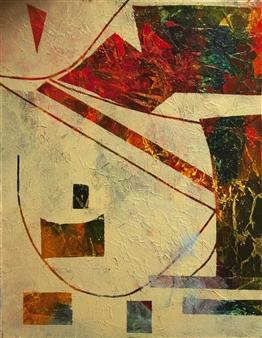 Pauline Rakis - Mona Lisa's Smile Acrylic on Canvas, Paintings