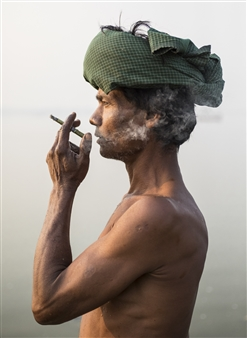 Safaa Kagan - Fisherman Burma Archival Pigment Print, Photography