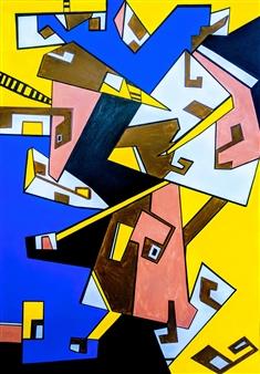 MaskOfWorro  - Pharoah Acrylic on Canvas, Paintings
