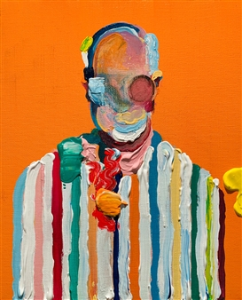 Kazusa Matsuyama - -Anonymous Portrait 14- Acrylic on Canvas, Paintings