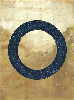 Westby and Mercier - Eternity Acrylic & Gold on Canvas, Mixed Media