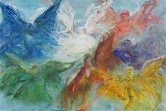 Dede Schuhmacher - Seven Archangels Oil on Linen, Paintings
