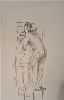 Anna Weichert - Sketch 1 - The Man in the Closet Pencil on Paper, Drawings
