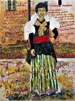 Elena Gastón Nicolás - Mi Querida Madri, Mi Origen, Mi Cielo. My Dear Mother My Origin My Sky Acrylic on Canvas, Paintings