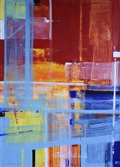 Abenamar Bauta Delgado - Atardeceres 4 Acrylic on Canvas, Paintings