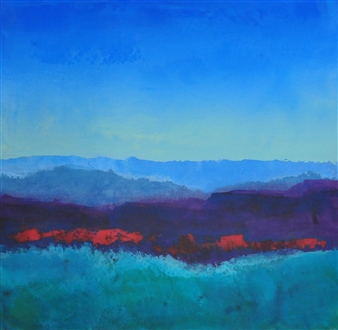 Pia Sjölin - Hills in Vermont Acrylic on Paper, Paintings