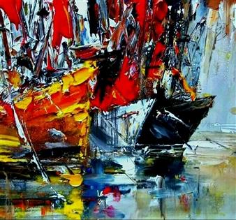Babis (Bujar) Arizi - Untitled 6 Oil on Canvas, Paintings