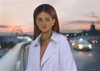 Christo Anto Francis - Eve Digital Painting on Aluminum, Digital Art