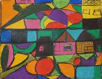 Ana Ingham - Woodstock Pastel & Oil on Board, Paintings