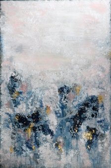 Jeannette Dannehl - In Line Acrylic & Gold Leaf on Canvas, Paintings