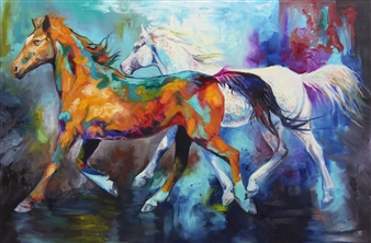 Jenny Blomquist - Tempo Oil on Canvas, Paintings