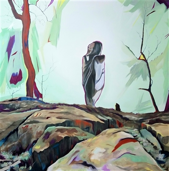 Veronica Keith - Camo Girls: Stand Alone Oil on Board, Paintings