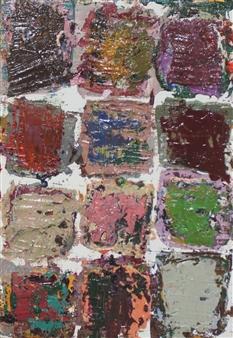 Masaoki Mitsutake - Texture No.6 Oil on Canvas, Paintings