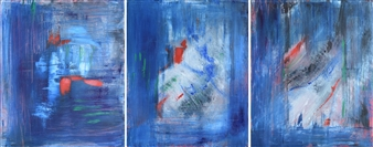 Barbara Wykrota - Hope, triptych Acrylic on Canvas, Paintings