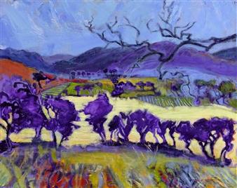 Robert Ellison - Mourne Landscape Acrylic & Oil on Canvas, Paintings