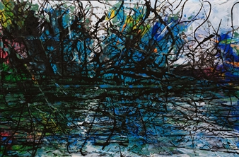Jian Jun An - Bird Island 3D Painting, Acrylic on Canvas, Paintings