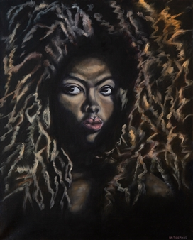 Britt-Marie Tidemand - Hair Oil on Canvas, Paintings