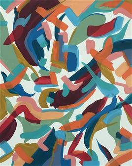 Travis Ballantyne - Dull Leaves Acrylic on Canvas, Paintings