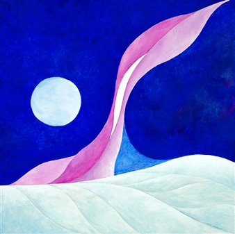 Jerry Anderson - Artic Sky Acrylic on Canvas, Paintings